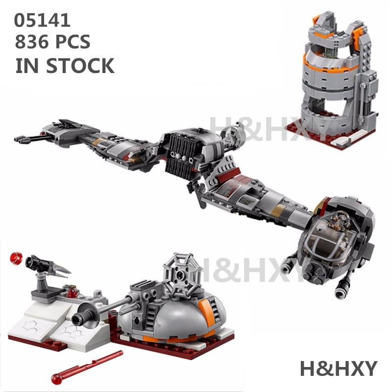IN STOCK H&amp;HXY 05141 836Pcs Star Plan Series The Defense Of Crait Set 75202 LEPIN Building Blocks Bricks Educational Toys Gifts<br>