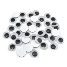 self-adhesive 5mm / 6mm  /7mm / 8mm / 10mm White and black Round Eyeball Plastic Eyes Scrapbook  For Doll Toy Accessories