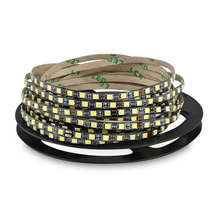 Ultra Bright 120LEDs/M 5mm black PCB 5M 600 LED Strip light 12V 2835 SMD Flexible Decor lamp Tape Robbin for home lighting(China)