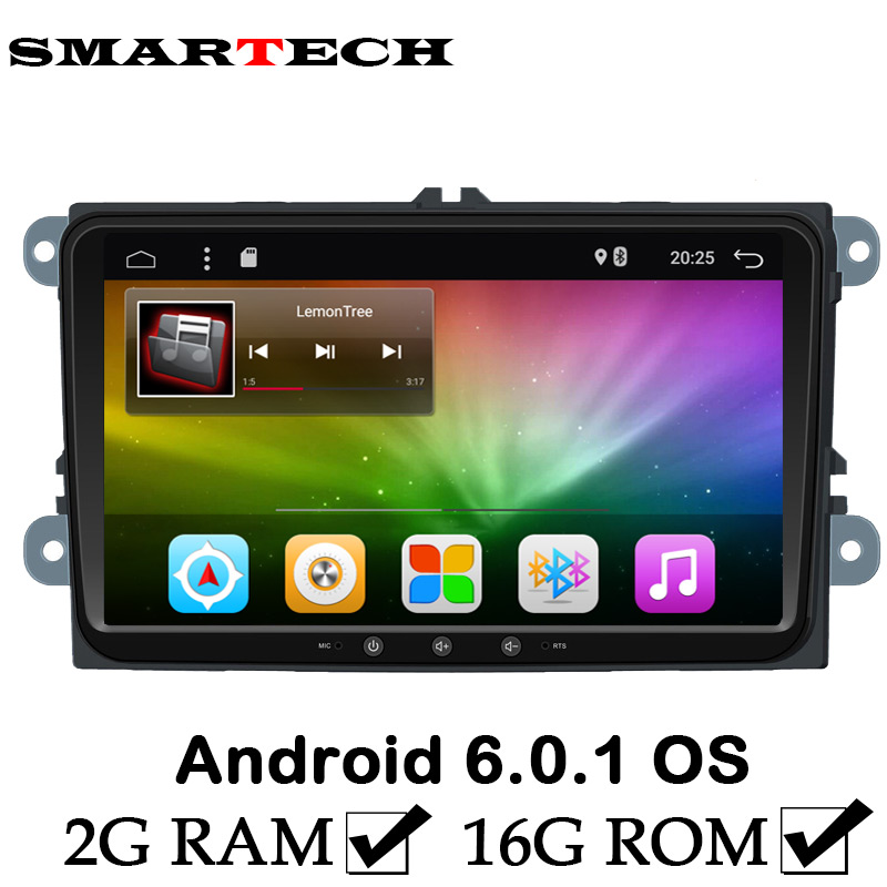 2Din 9 Inch For VW Automotive 2G RAM Android 6.0 Car PC Player For VW Golf Jetta Passat Car Audio Stereo GPS Navigation RDS(China (Mainland))