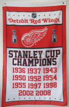 DETROIT RED WINGS stanley cup champions 3'x5' FLAG
