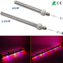 360 degrees lighting !! Discount 85-265V 80W/150W E27 Led Grow Light Lamp For Plants Vegs Hydroponic System Grow/Bloom