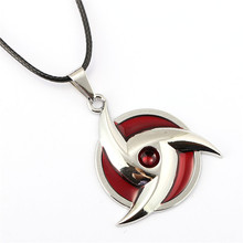 ZIDOM Naruto necklace silver Itachi Uchiha new style kaleidoscope Syaringan spiral Pendant Fashion Jewelry For anime fans