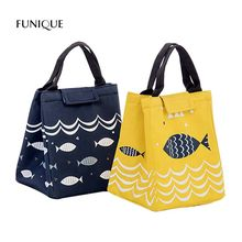 FUNIQUE Yellow Fish Food Insulation Bag Handbag Lunch Bag Outdoor Picnic Storage Bags Insulation Cold Portable Ice Bag(China)