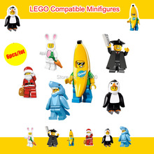 2015 Kids DIY Toys Anime Despcable Me Minion Mini Figures Plastic Building Blocks Bricks Compatible With Lego Baby Toy 6pcs/lot