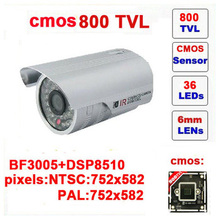 Free shipping infrared video camera ccd mini bullet camera 800tvl cctv with ir-cut 36 leds outdoor security z551c