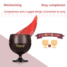 Hot 2 Pcs Moisturize Long Lasting Red Wine Lipstick Fruity Jelly Lip Balm Natural  for Lip Nourish Care Plant Extract Makeup