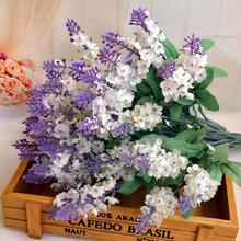 Hot!1pcs Artificial Fake Flower Bush Bouquet Home Wedding Decor 2017 Popular Wholesale Price High Quality May24