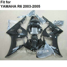 MOTOMARTS New hot  parts for Yamaha fairings YZF R6 2003 2004 2005 black body kit fairings YZFR6 03 04 05 BC89