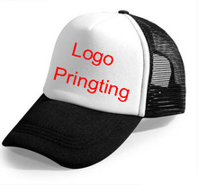 1 PCS Only for Printing Custom Made Print your logo/designs truck cap  baseball cap adjustable mesh Caps