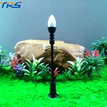 20PCS 1/75-200 Architectural Scale Model Layout Single Head Garden Lights Lamppost Lamp  Model Garden Lamps Model Building Kits