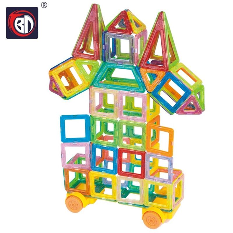 BD Toys 112/146pcs Mini Magnetic Block Set Designer Construction Model &amp; Building Toy Plastic Educational Toys For Kids Gift<br>