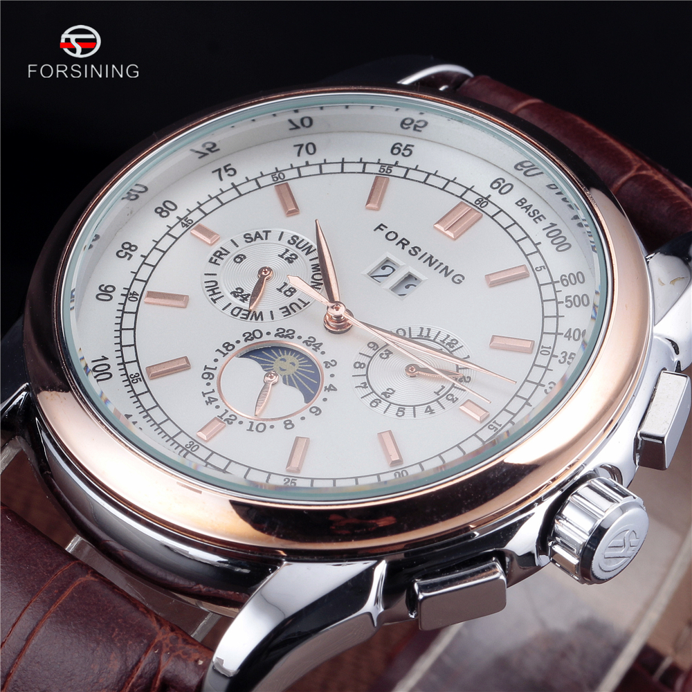 Classic Designers Automatic Watches FORSINING Mens Top Luxury Fashion Brand Dress Mechanical Watches Auto Date erkek saatleri<br><br>Aliexpress