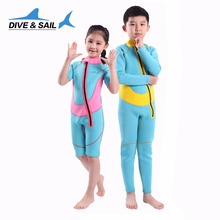Thermal 2.5mm Neoprene Kids Wetsuit Dive Wet Suit  Child Swimwear One-piece Short Or Long Sleeved Sunscreen Warm Clothing