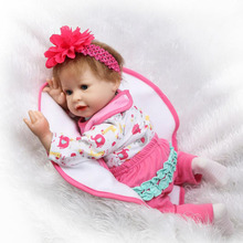 Buy NPK 22'' Safe Reborn Babies Dolls Silicone Touch Soft Realistic Reborn kids Toy Girl Baby Doll Wholesale Baby Xmas Gifts