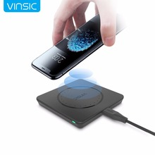 Vinsic Original Qi Wireless Charger Charging Pad for iPhone 8 8+ iPhone X Samsung Galaxy S7 Edge S6 Note 5 and Qi Enable Device(China)