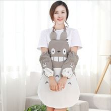 Han Edition Fashion Creative Totoro Apron Waterproof And Oil Household Kitchen Cooking Cartoon Apron Long Sleeve Cuff A032(China)