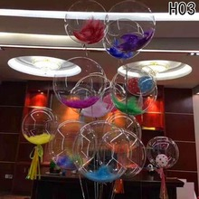 New Year Christmas Decoration 24inch LED Luminous Balloons Round Bubble Balloon for Wedding Party Decoration(China)