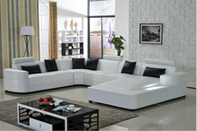 Living room sofa with modern design leather sofa for Sofa set living room furniture(China)