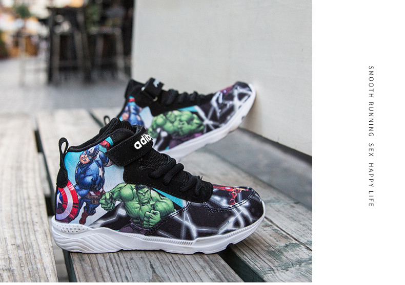 Kids Sneakers For Boys Basketball Shoes Running The Avengers Baby Casual Children shoes Sport boot Cartoon gamin chaussure (15)
