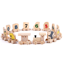 12 Pcs Wooden Train Toy Figures Railway Kids Wood Mini Educational Toys Chinese Zodiac Assembles Toy For Kids Children(China)