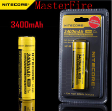 2pcs/lot New Genuine Nitecore NL189 3400mAh 18650 3.7V Rechargeable Li-ion Long Lasting battery batteries( NL189 )