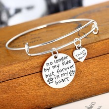 Dog Tag Paws Bangle Love Forever In My Heart Bracelet Friend Women Wedding Gifts Party Bride Jewelry Girls Lover Charm