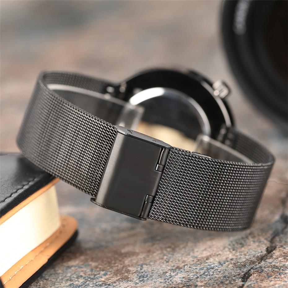 YISUYAแฟชั่นลำลองผู้ชายนาฬิกาอะนาล็อกควอตซ์ฉลามสีดำสแตนเลสตาข่ายวงสร้างสรรค์นาฬิกาข้อมือท... 6
