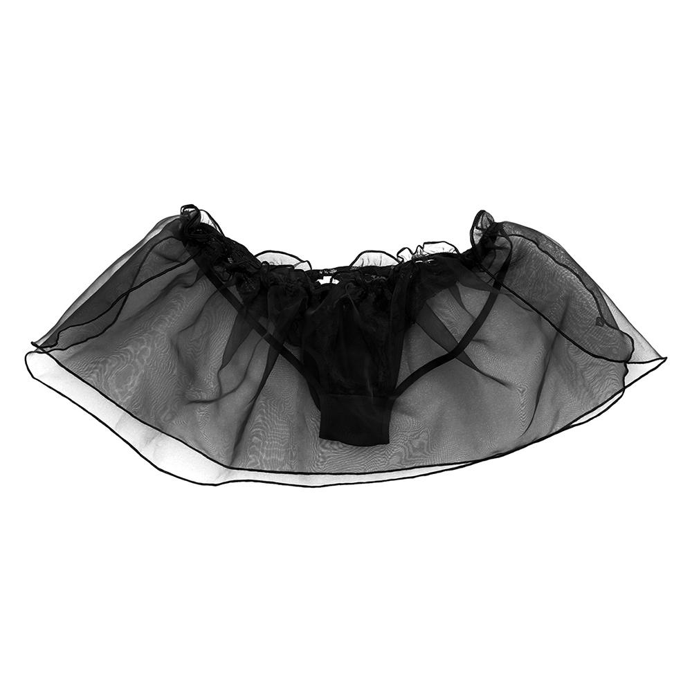 LGBT Lace Flower Mesh Thongs Jock Strings Polyester Panties