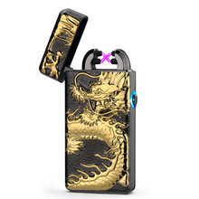 Double Pulsed Arc USB Rechargeable Lighter Creative Design Dragon Electric Plasma Cigarette Lighter Weed Tobacco Smoke Hookah(China)