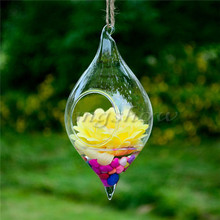 Wholesale Price Transparent Hanging Glass Vase Plants Flower Vase Hydroponic Container Wedding Gift Home Decoration