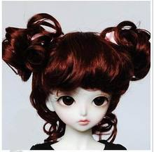 JD011 1/4 MSD doll wig  Charming Curl Doll Wigs 7-8inchDoll Accessories Synthetic Mohair doll Wigs
