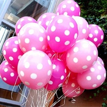 20pcs/Lot Latex Balloons 12 Inch Polka Dot Wedding Decoration Supplies Minnie Mouse Party Supplies Balloons Multicolor
