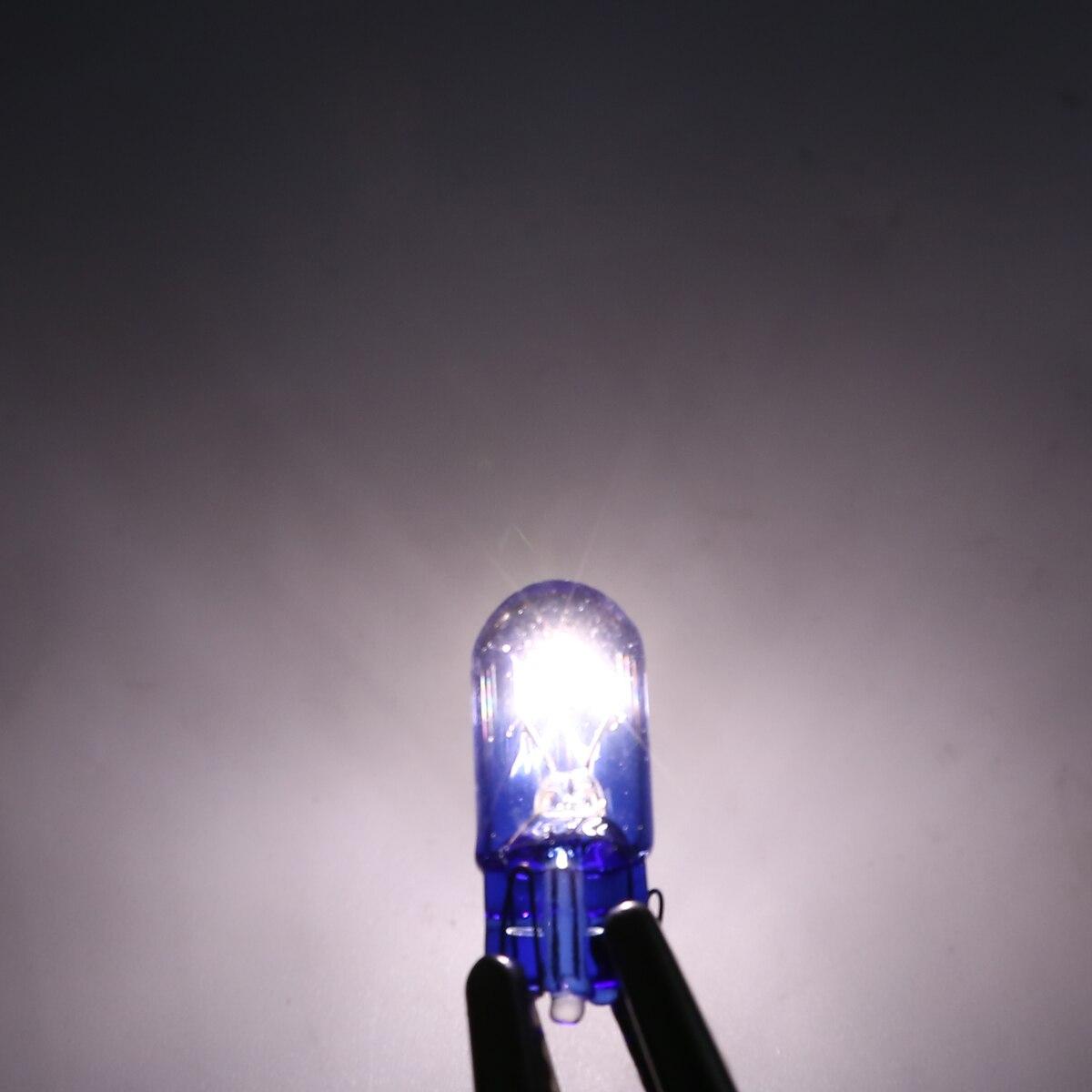 10pcs Car T10 Halogen w5w 168 Wedges 12V 5W Xexon Signal Lamp Super White Instrument Light Reading Light Clearance Lamp
