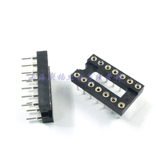 10pcs Round Hole 14 Pins 2.54MM DIP IC Sockets 14 PIN 2.54 Adaptor Solder Type IC Connector New original