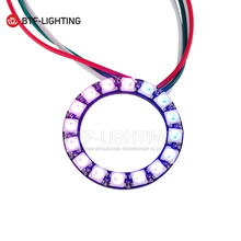 ws2812b 16leds pixel ring;addressable ring modules;DC5V input;RGB full color;round LED Circle Development Board(China)
