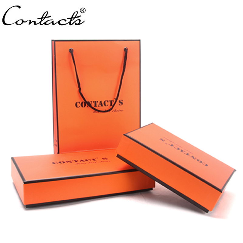 CONTACT'S Original Brand Paper Gift Box For Men Wallets Box Rectangle Shaped Fashion Protection Gift Boxes title=