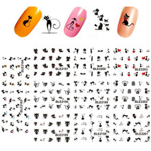 Fashion 3D Cat Nail Art Stickers Decals Girl Fingernail Accessories Decoration Manicure(China)