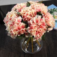 French Rose Artificial Silk Peony Flower Arrangement Room Hydrangea Wedding Home Decor Party
