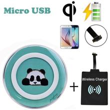 Ularmo QI Wireless Charger+Universal Micro Usb QI Wireless Charging Receiver Charger Module For Micro USB Cell Phone(China)