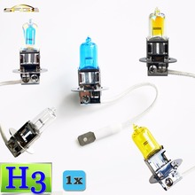 flytop H3 Halogen Bulb 12V 55W / 100W Super White Clear Yellow ION Rainbow 2200Lm Car Headlight Lamp Quartz Glass(China)