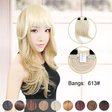 Neitsi Synthetic Clip In Hair Bangs Extensions Natural Straight Fashion Fringe Bangs High Quality 613# For Women Fast Shipping