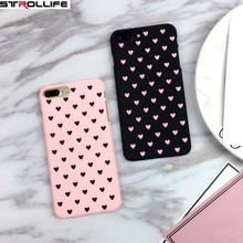 STROLLIFE Cartoon Love Heart Couple Phone Cases For iphone 5 Case Peach Heart ultrathin Hard Shell Cover For Iphone6 6S 7Plus 5s