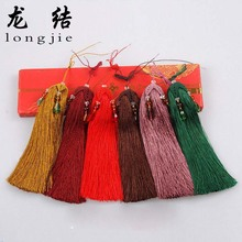 Longjie hot Tassel Fringe 7 colors Hand-woven Curtains Hanging Ear Hanging Shall Multicolor Crystal Hanging Apparel Sewing L5003(China)