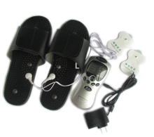 Electronic vibrating blood circulation Tens unit Acupuncture Digital Therapy Machine with foot Massage slippers/shoes