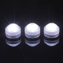 Remote Control CR2032 Battery Operated Super Bright LED Mini Submersible LED Floralyte Waterproof LED Candle Tea Light