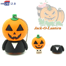 real capacity cartoon Jack-O-Lantern USB flash drive pumpkin pen drive 4g/8g/16g/32g memory stick pendrive gift happy halloween