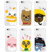 Friends POP For Kakao KPop Music Korea Cartoon Characters Phone case Cover For iPhone 7Plus 7 6Plus 6S 5S 4S Samsung Galaxy