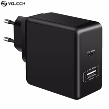 YOJOCK 15W 24W 30W 45W PD Charger Power Delivery Wall Charger 2.4A USB Charge Adapter for Apple MacBook Samsung Nintendo Switch(China)