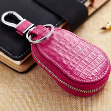 Fashion Hoist Type Key Bag Leather Manufacturers Wholesale Car Remote Control Key Bags Zipper Car Key Purse